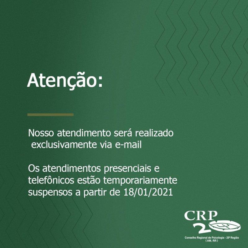 COMUNICADO - ATENDIMENTO PRESENCIAL SUSPENSO