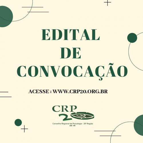 EDITAL DE CONVOCAÇÃO - Ass. Geral Orçamentária
