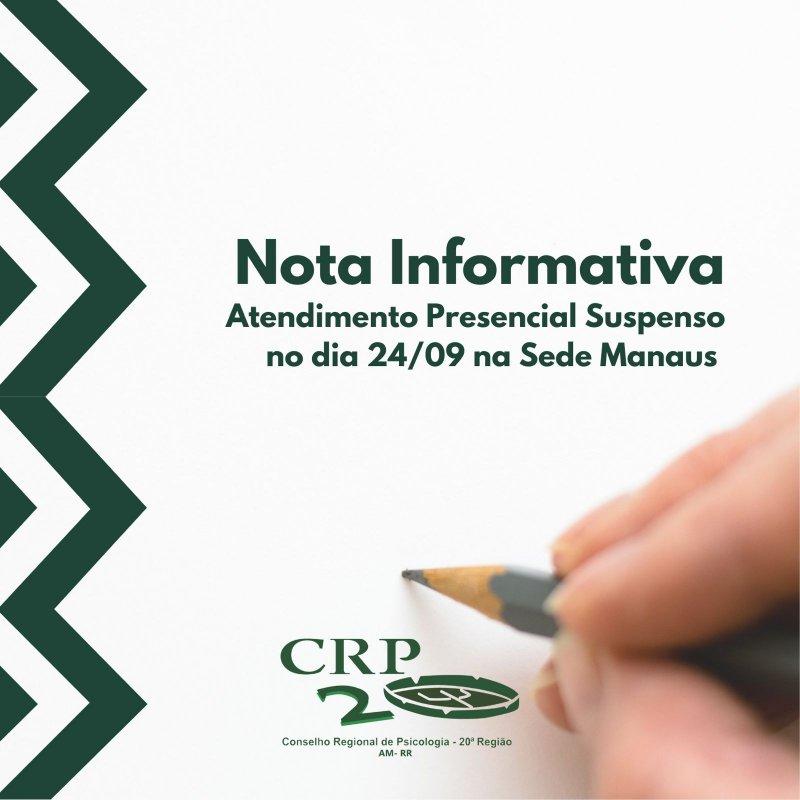 Informativo sobre o funcionamento do CRP20