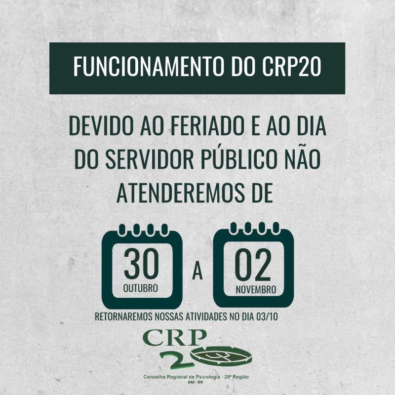 Informe sobre o funcionamento do CRP20