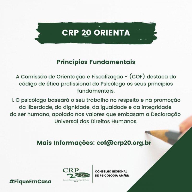 CRP20 ORIENTA - Princípios Fundamentais